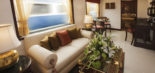 Maharajas' Express Presidential Suite Living Area