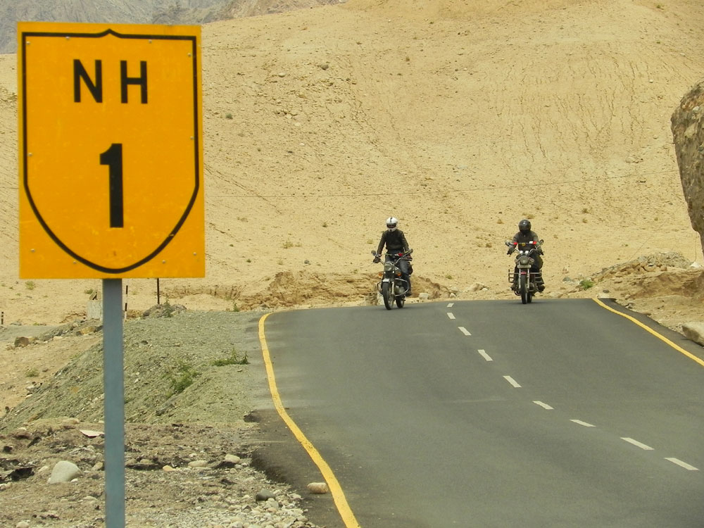 On National Highway near Leh Town